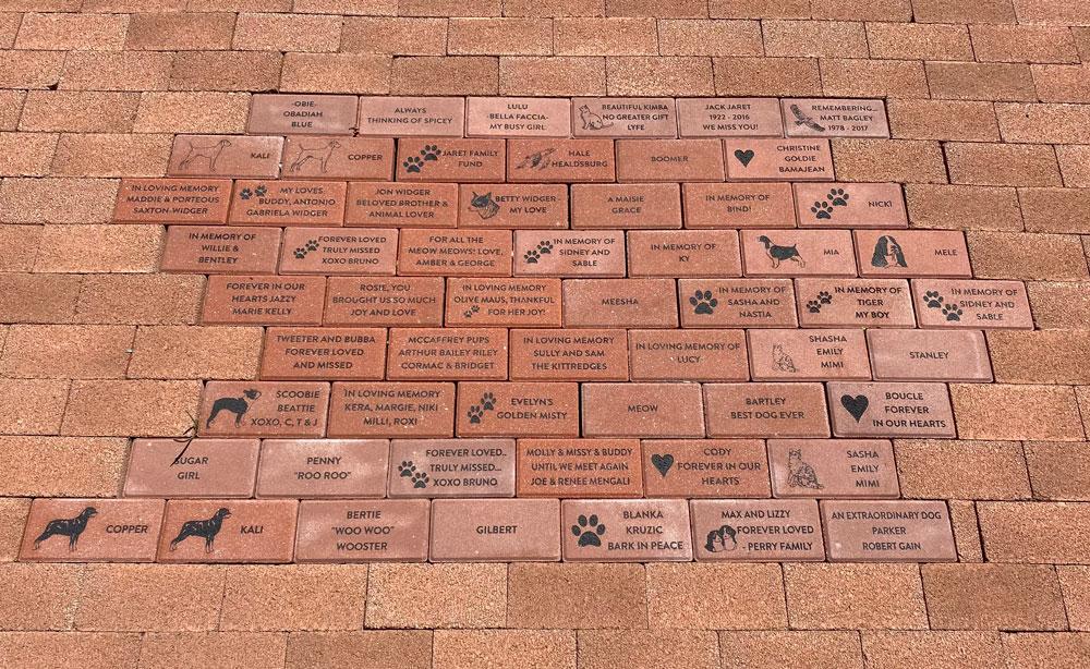 Humane Society of Sonoma County Healdsburg Shelter Tribute Bricks